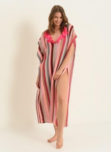 Morhipo Beach Kadın Renk Bloklu Kimono MBKSS21KI0017 Pudra